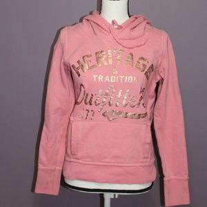 American Eagle Outfitters Pink Pullover Hoodie S/P
